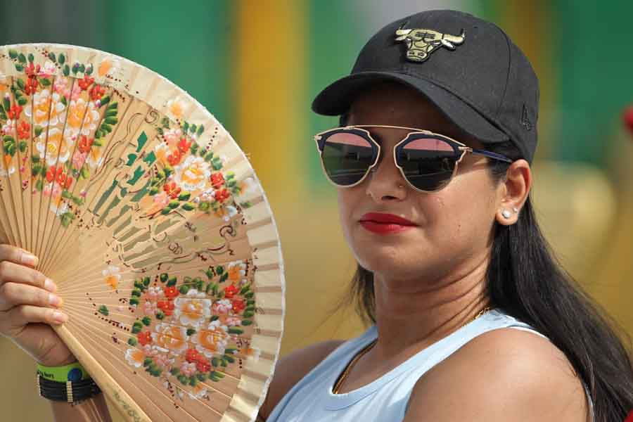 Tanya Wadhwa, Wife Of Royal Challengers Bangalores Umesh Yadav During An IPL 2018 Match Between Raja