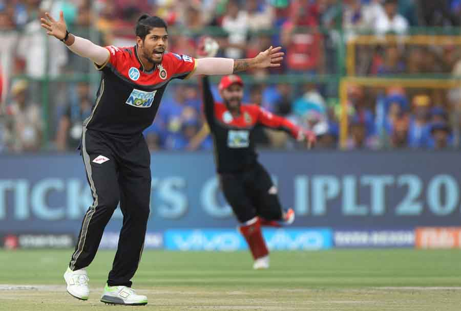 Umesh Yadav Of Royal Challengers Bangalore Appeals For A Wicket Of Jofra Archer During An IPL 2018 M in Hindi