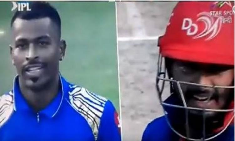 VIDEO मैच के दौरान हार्दिक पांड्या और ऋषभ पंत आपस में भिड़े, क्रिकेट हुआ शर्मसार Images