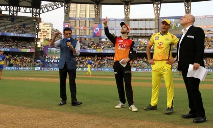 IPL 2018 Final: Chennai to field vs Hyderabad