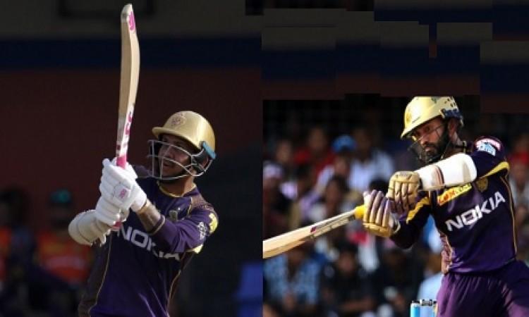 सुनील नरेन और दिनेश कार्तिक की तूफानी बल्लेबाजी, 20 ओवर में खड़ा किया 245 रनों का स्कोर Images