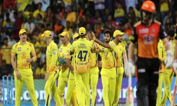 IPL 2018 क्वालीफायर 1: चेन्नई सुपरकिंग्स के गेंदबाजों ने हैदराबाद को 20 ओवर में 139 रनों पर रोका Ima