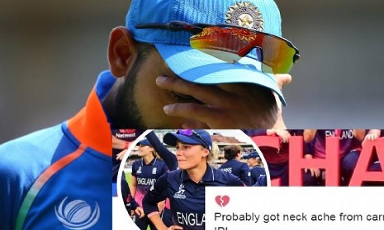 चोट की वजह से कोहली के काउंटी क्रिकेट में ना खेल पाने से इस खूबसूरत महिला क्रिकेटर का दिल टूट गया Im