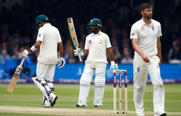 Pakistan on top after collective batting show