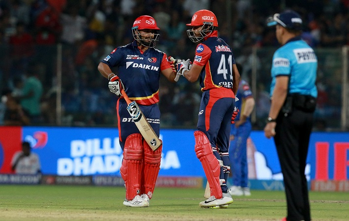 Delhi Daredevils posted 196/6 in 17.1 overs