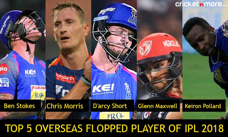 IPL 2018: Top 5 overseas players who flopped in IPL 2018