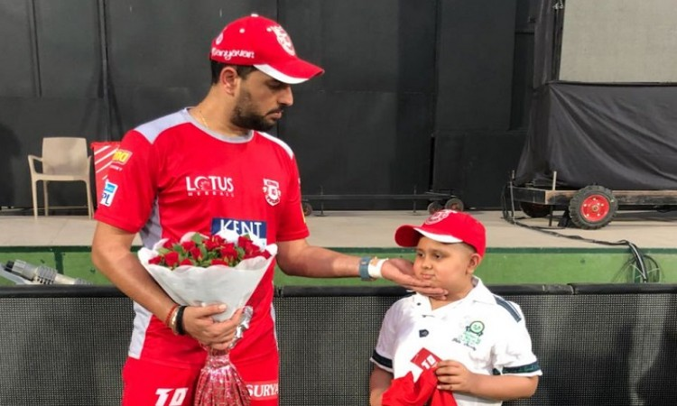 Yuvraj Singh Meets Young Fan Suffering From Cancer