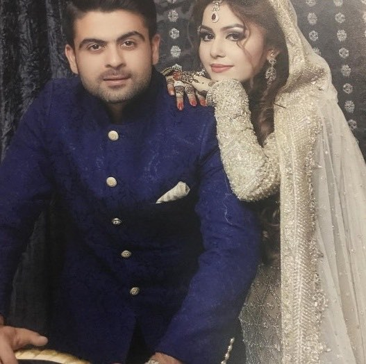 Ahmed Shehzad With His Wife Sana Murad Images