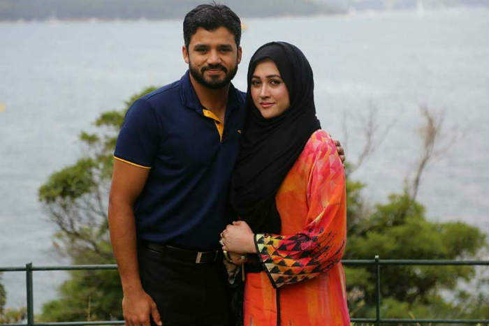 Azhar Ali With His Wife Naila Azhar Images in Hindi