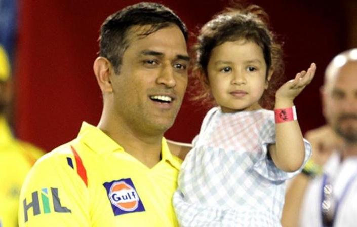 MS Dhoni's daughter Ziva cheering for Hardik Pandya