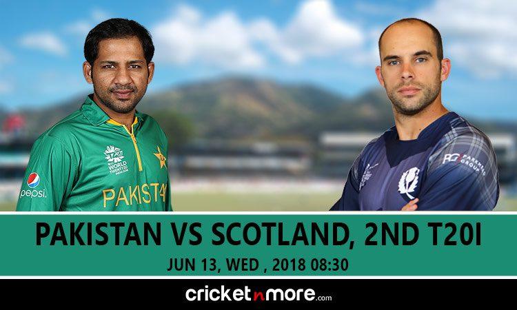 स्कॉटलैंड के खिलाफ दूसरे टी- 20 में पाकिस्तान ने टॉस जीतकर पहले बल्लेबाजी करने का फैसला किया