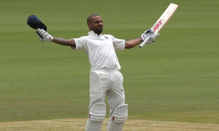 BCCI congratulates Shikhar Dhawan on scoring century before lunch on Day 1