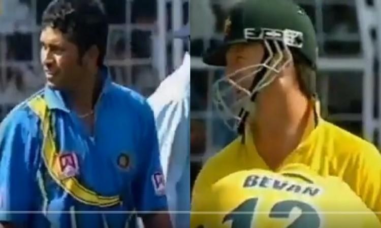 जब सचिन तेंदुलकर ने महान स्टीव वॉ को किया परेशान, स्लेजिंग कर चटकाया था विकेट VIDEO Images