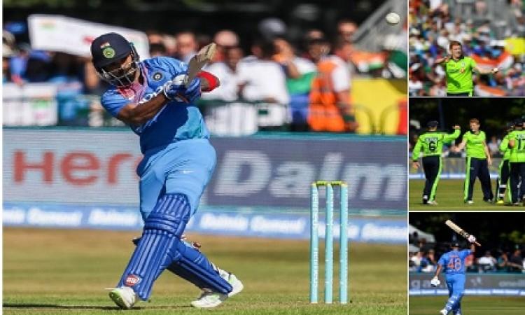 हार्दिक पांड्या ने केवल 9 गेंद पर धो डाला आय़रलैंड को, भारत ने बनाए 213 रन Images