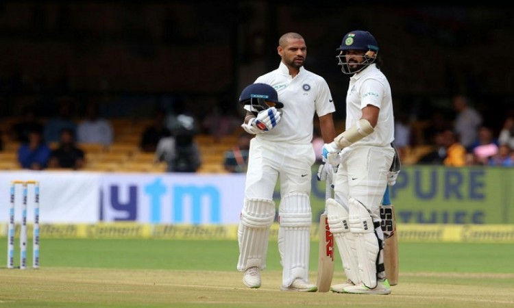 Shikhar Dhawan's ton help India post 158/0 at lunch vs Afghanistan