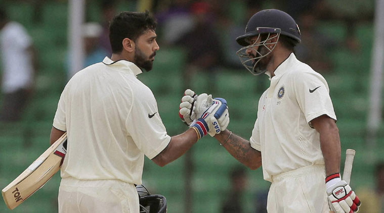 first ever instance of two openers scoring centuries in a same Test innings at Bangalore for a team