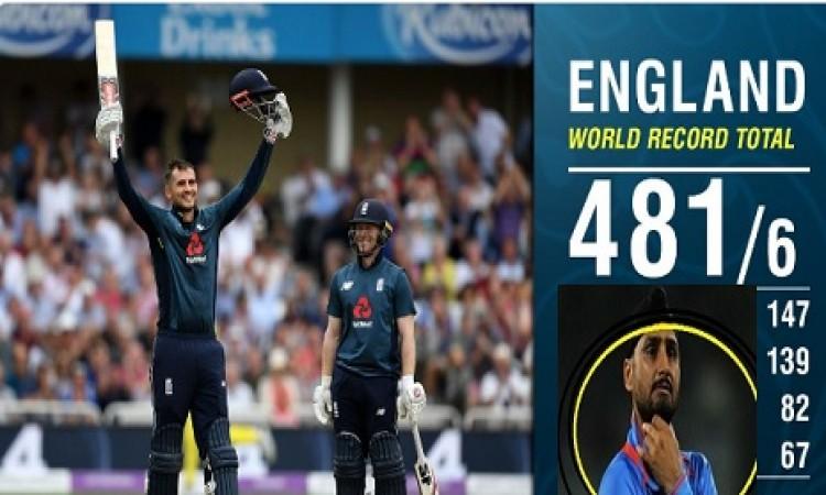 इंग्लैंड के बल्लेबाजों के द्वारा ऑस्ट्रेलियाई गेंदबाजों की धुनाई के बाद भज्जी का दिल रोया, मांगी माफ