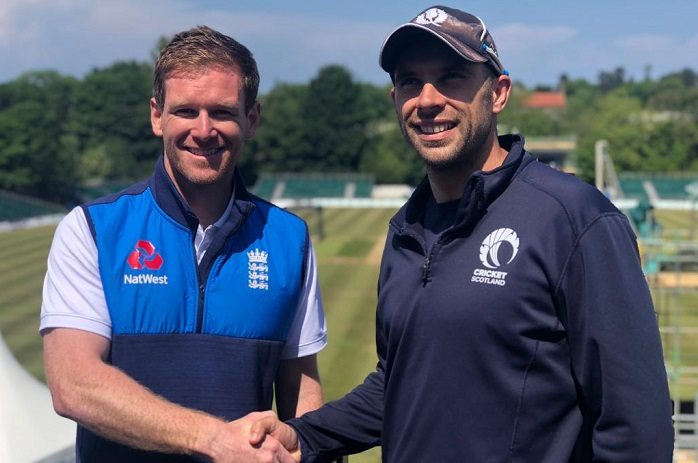 England opted to field first in only ODI against Scotland