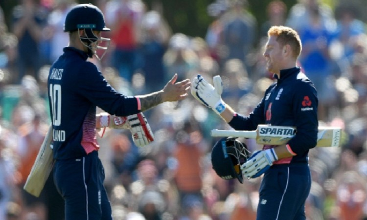 Images for Hales, Bairstow tons take England to world record ODI total of 481/6