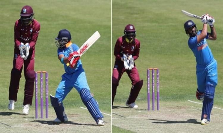 वेस्टइंडीज ए के खिलाफ मैच में भारत ए के बल्लेबाज पृथ्वी शॉ और हनुमा विहारी की आतिशी पारी Images