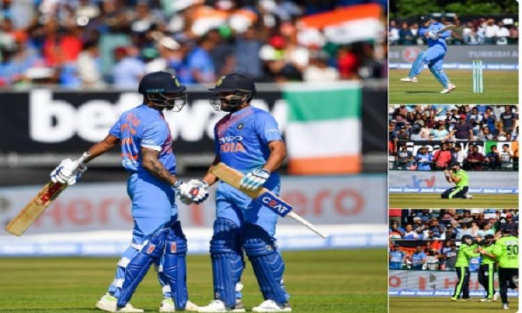 आयरलैंड के खिलाफ पहले टी-20 में रोहित और धवन का जलवा, भारत 76 रनों से जीता Images
