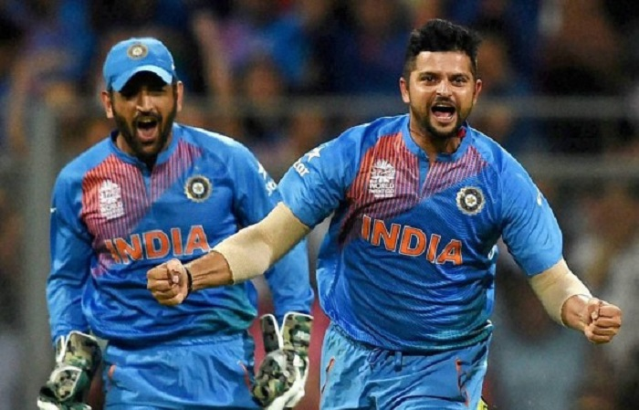 1 and 56 runs respectively needed by Suresh Raina and MS Dhoni to reach the 1500 mark.