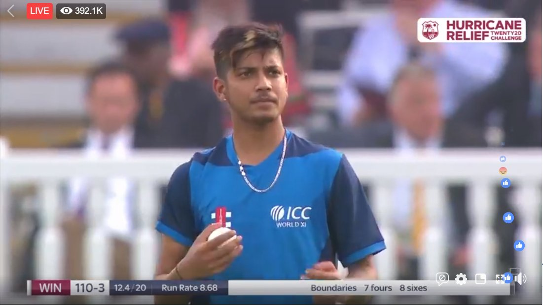 Sandeep Lamichhane is the first player to make his International debut for a combined team