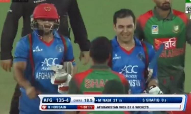 अफगानिस्तान की टीम का धमाल, बांग्लादेश को दूसरे टी- 20 में 6 विकेट से दी शिकस्त Images
