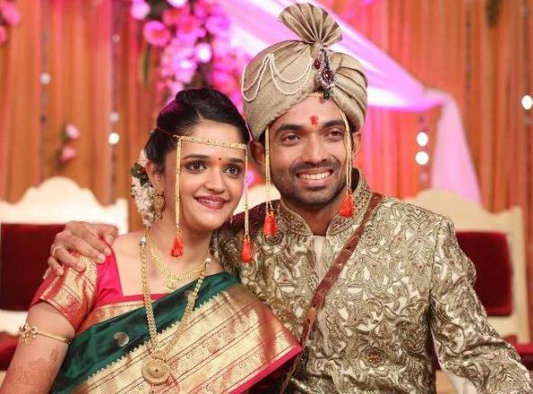 Ajinkya Rahane With His Wife Radhika Dhopavkar (Marriage) Images