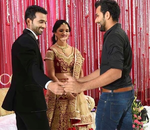 Ajinkya Rahane With His Wife Radhika Dhopavkar And Team Mate Rohit Sharma Images