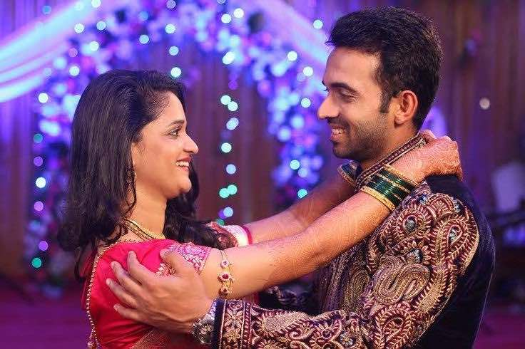Ajinkya Rahane With His Wife Radhika Images