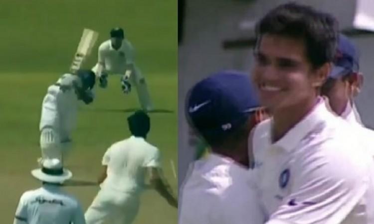 VIDEO अर्जुन तेंदुलकर की घातक गेंद पर श्रीलंका का बल्लेबाज हुआ आउट, देखिए कमाल की गेंदबाजी Images