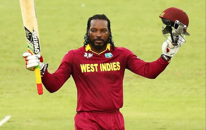 Chris Gayle equals Shahid Afridi sixes record in international cricket