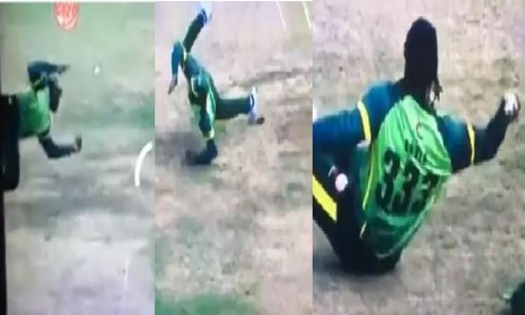 ग्लोबल टी-20 कनाडा लीग के फाइनल में गेल ने लपका हैरत करने वाला कैच, हर कोई रह गया दंग VIDEO Images