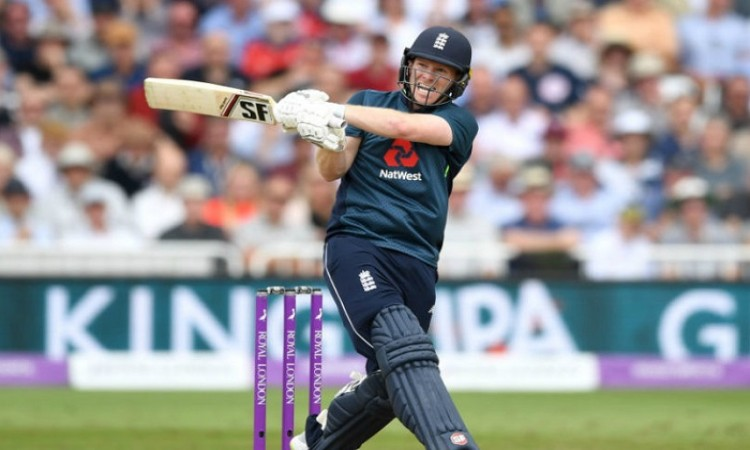 eoin morgan breaks sourav ganguly internation sixes record