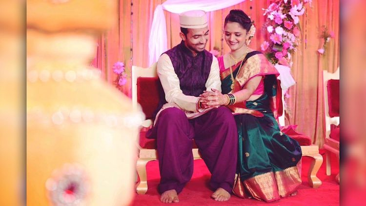 Life Partners   Rahane With His Beautiful Wife Images
