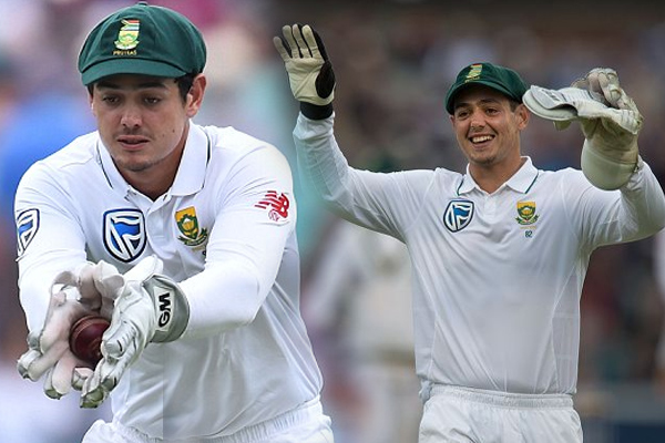 Quinton de Kock now has 150 dismissals in 34 Tests while keeping wickets for South Africa