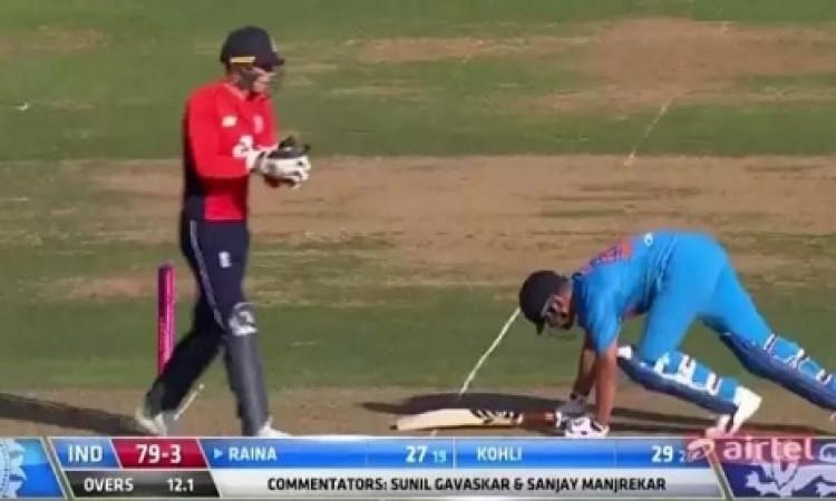 दूसरे टी-20 में इंग्लैंड के खिलाफ पहली बार रैना से हुई ऐसी गलती, जानकर चौंक जाएगें Images