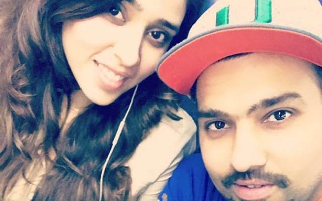 Ritika Sajdeh With Her Cricketer Husband Rohit Sharma Images in Hindi