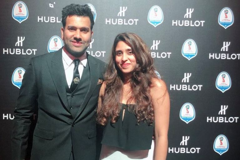 Rohit Sharma And His Wife Ritika Sajdeh In Modern Outfits Images