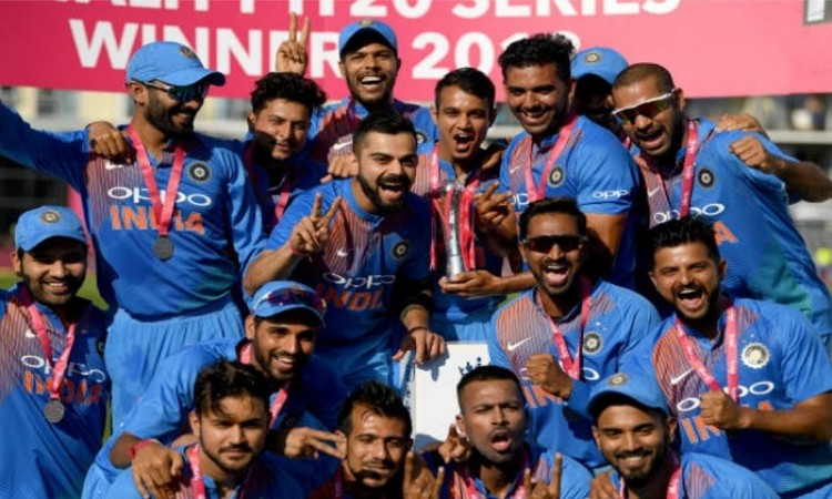Sixth consecutive series win for Indian cricket team in t20