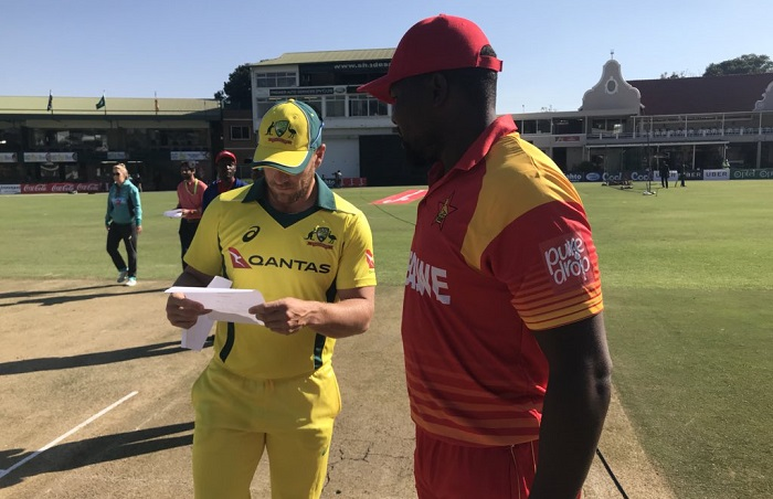 zimbabwe opt to bowl first against australia