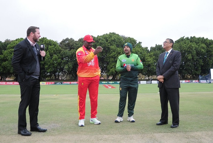 Pakistan opted to bat first against Zimbabwe in Fourth ODI