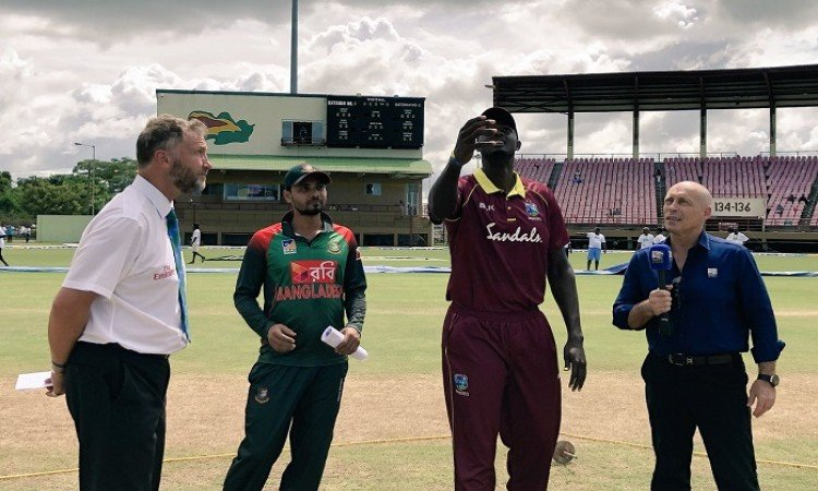 Bangladesh opted to bowl first against west indies in second odi