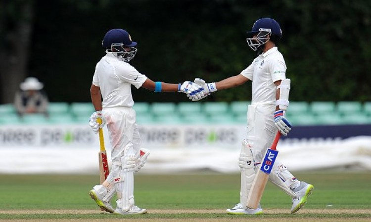 Shaw,rahane lead India A's reply after Cook 180