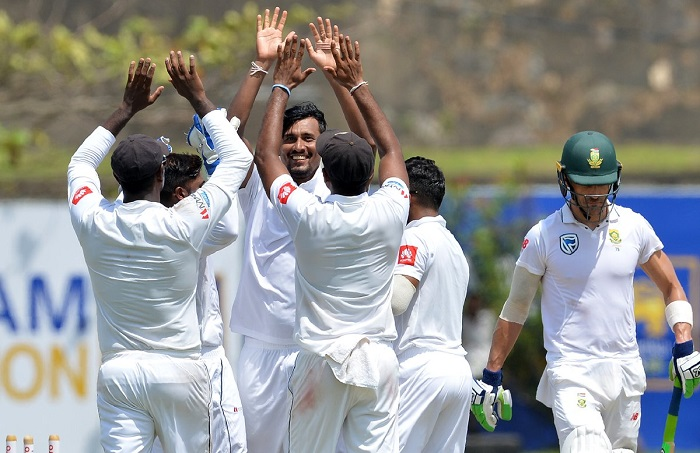 South Africa bundled out for 126 in first test vs sri lanka