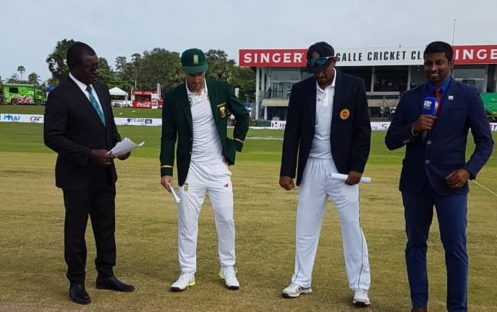 Sri Lanka opted to bat first against south Africa in first test