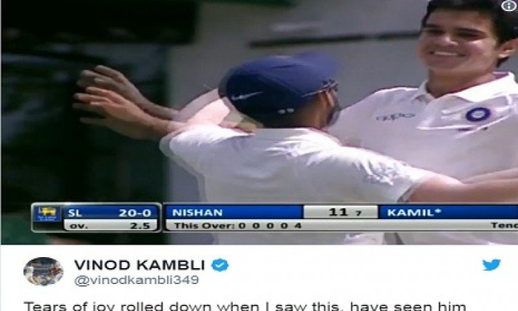 अर्जुन तेंदुलकर के द्वारा पहला विकेट लेने पर विनोद कांबली का दिल भर आया, रोते हुए लिखी दिल की बात Im