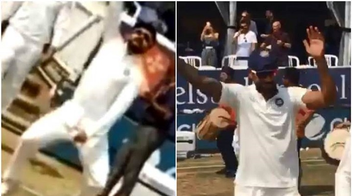 Virat Kohli and Shikhar Dhawan take Bhangra to Essex