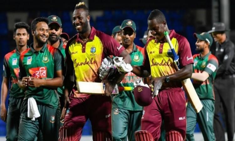 पहले टी-20 में वेस्टइंडीज ने बांग्लादेश को 7 विकेट से दी मात, आंद्रे रसेल ने खेली कमाल की पारी Image